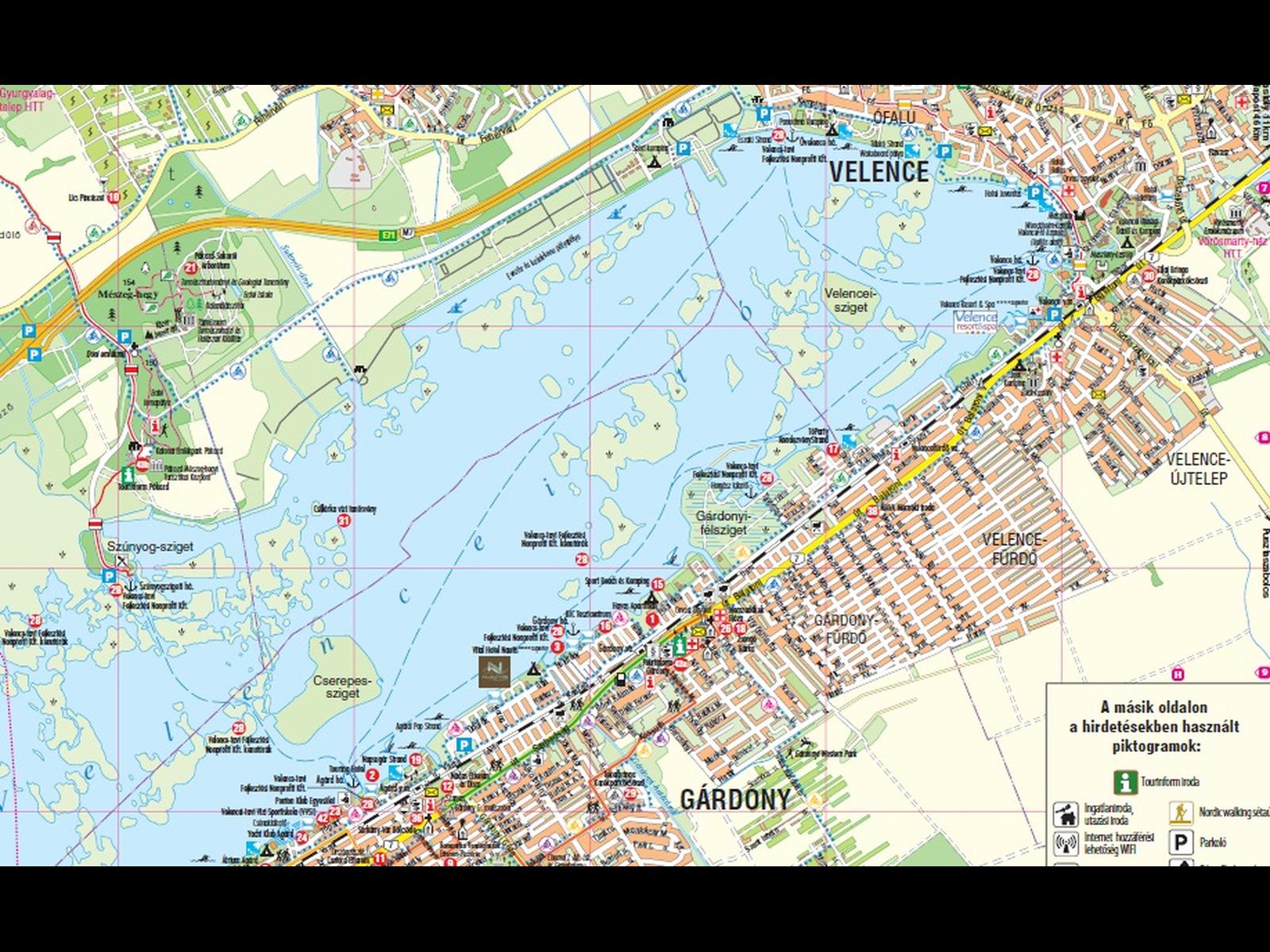 gárdony térkép Velencei tavi turisztikai kiadványok 2012   Top ajánlatok / Hír gárdony térkép