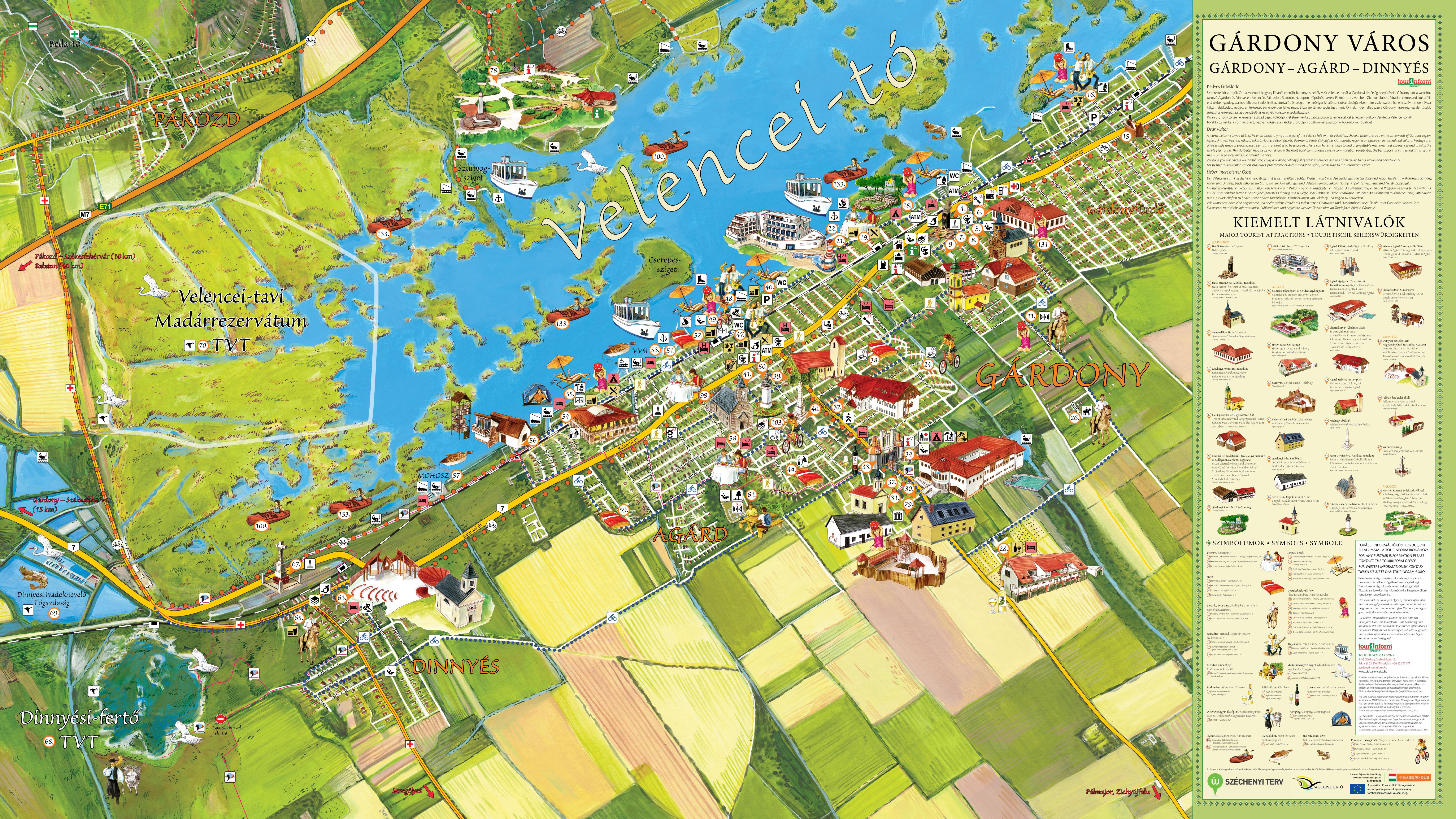 velencei tó szabadstrand térkép Elkészült a festett látványtérkép a Velencei tó turisztikai  velencei tó szabadstrand térkép